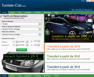 TRANSPORT : location voiture hammamet